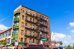Boston traditional brick wall building facades Stock Photography