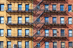 Boston traditional brick wall building facades Royalty Free Stock Photos