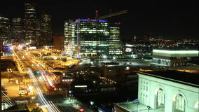 Boston traffic time lapse at night stock footage