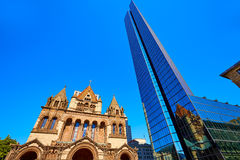 Boston Trinity Church at Copley Square Stock Photography