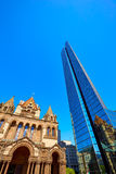 Boston Trinity Church at Copley Square Stock Photos