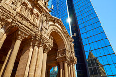 Boston Trinity Church at Copley Square Royalty Free Stock Photo
