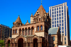 Boston Trinity Church at Copley Square Royalty Free Stock Image