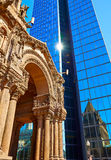 Boston Trinity Church at Copley Square Stock Images