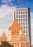 Boston Trinity Church in Copley Square, USA Stock Image