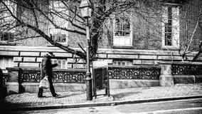 Boston un giorno dell'inverno freddo immagini stock libere da diritti