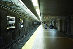 Boston underground station Stock Photos