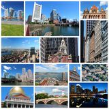 Boston, United States. Photo collage from Boston, United States. Collage includes major landmarks like State House, city skyline and Harvard University royalty free stock photos