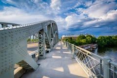 The Boston University Bridge and Charles River at Boston Univers Stock Photo