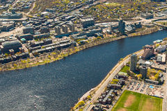 Boston University, Charles River, and MIT aerial Stock Photo