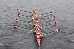 Boston University races in the Head of Charles R Royalty Free Stock Images