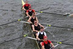 Boston  University races in the Head of Charles Regatta Royalty Free Stock Photos