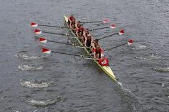 Boston  University races in the Head of Charles Regatta Stock Photo