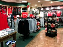 Boston University Swag. Barnes & Nobles, Boston University location featuring Terrier swag Stock Photos