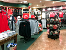 Boston University Swag. Barnes & Nobles, Boston University location featuring Terrier swag Royalty Free Stock Photos