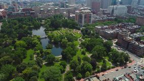 Boston USA. Aerial motion video of Boston USA stock video footage