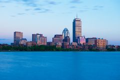 Boston, USA: Back Bay skyline during the sunset stock photos