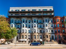 Boston USA: Bostads- hyreshus Arkivfoton