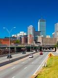 Boston USA: Cityscape av den Boston baksidafjärden Arkivfoto