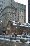 Old State House in Boston, USA on December 11, 2016. BOSTON, USA - DECEMBER 11: Old State House in Boston, USA on December 11, 2016 Stock Photography