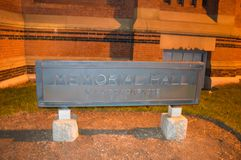 BOSTON, USA - 11. DEZEMBER: Memorial Hall in Harvard in Boston, USA Stockfoto