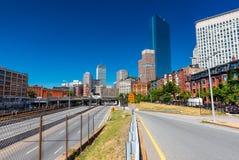 Boston USA: Gatan av Boston Royaltyfria Foton