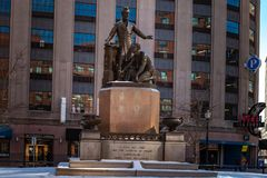 Boston, USA- March 01, 2019: The Emancipation Memorial, also known as the Freedman`s Memorial or the Emancipation Group, and. Sometimes referred to as the ` royalty free stock photos