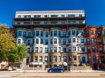 Boston, usa: Mieszkaniowy budynek mieszkaniowy Zdjęcia Stock