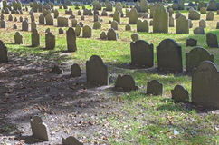Boston, USA - October, 3: Granary Burying Ground in Boston, MA, Stock Images