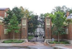 BOSTON, USA - SEPT 10: The famous Harvard University in Cambridge, MA, USA on September 10, 2016. Regarding rankings of specific stock photo