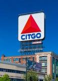 Boston USA: Stor affischtavla med logo av Citgo Royaltyfri Fotografi