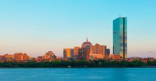 Boston, usa: Widok Boston plecy zatoki okręg Zdjęcia Royalty Free