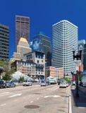 Boston, USA: Wolkenkratzer in finacial Bezirk Bostons Lizenzfreies Stockfoto