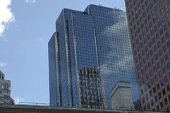 boston utbytesställe skyline3 arkivbilder