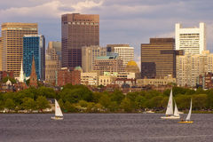 Boston van Charles River stock afbeeldingen