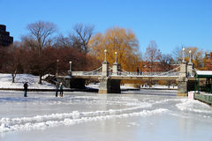 Boston vinter Royaltyfri Bild