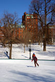 Boston vinter Arkivfoton