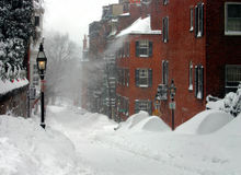 boston vinter arkivfoto