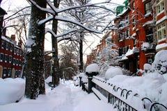 boston vinter royaltyfri bild