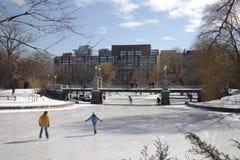 Boston vinter arkivfoto