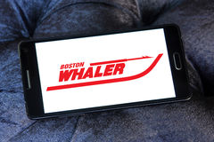 Boston whaler boats logo. Logo of boat and yacht manufacturer boston whaler  on samsung mobile phone Stock Photography