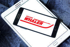 Boston whaler boats logo. Logo of boat and yacht manufacturer boston whaler  on samsung mobile phone on samsung tablet Stock Images