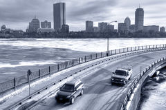 Boston in the Winter Stock Images