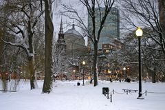 Boston-Winter Lizenzfreies Stockfoto