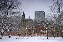 Boston-Winter Lizenzfreie Stockfotografie