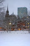 Boston-Winter Lizenzfreie Stockbilder