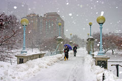 Boston Winter Stock Photo