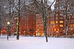 Boston-Winter Lizenzfreie Stockfotos