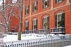 Boston Winter. Stock image of a snowing winter at Boston, Massachusetts, USA Royalty Free Stock Photo