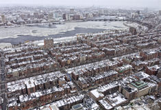 Boston in the Winter Stock Image
